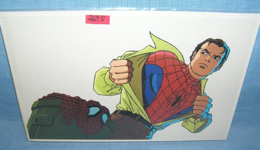 Vintage Spiderman comic character cell