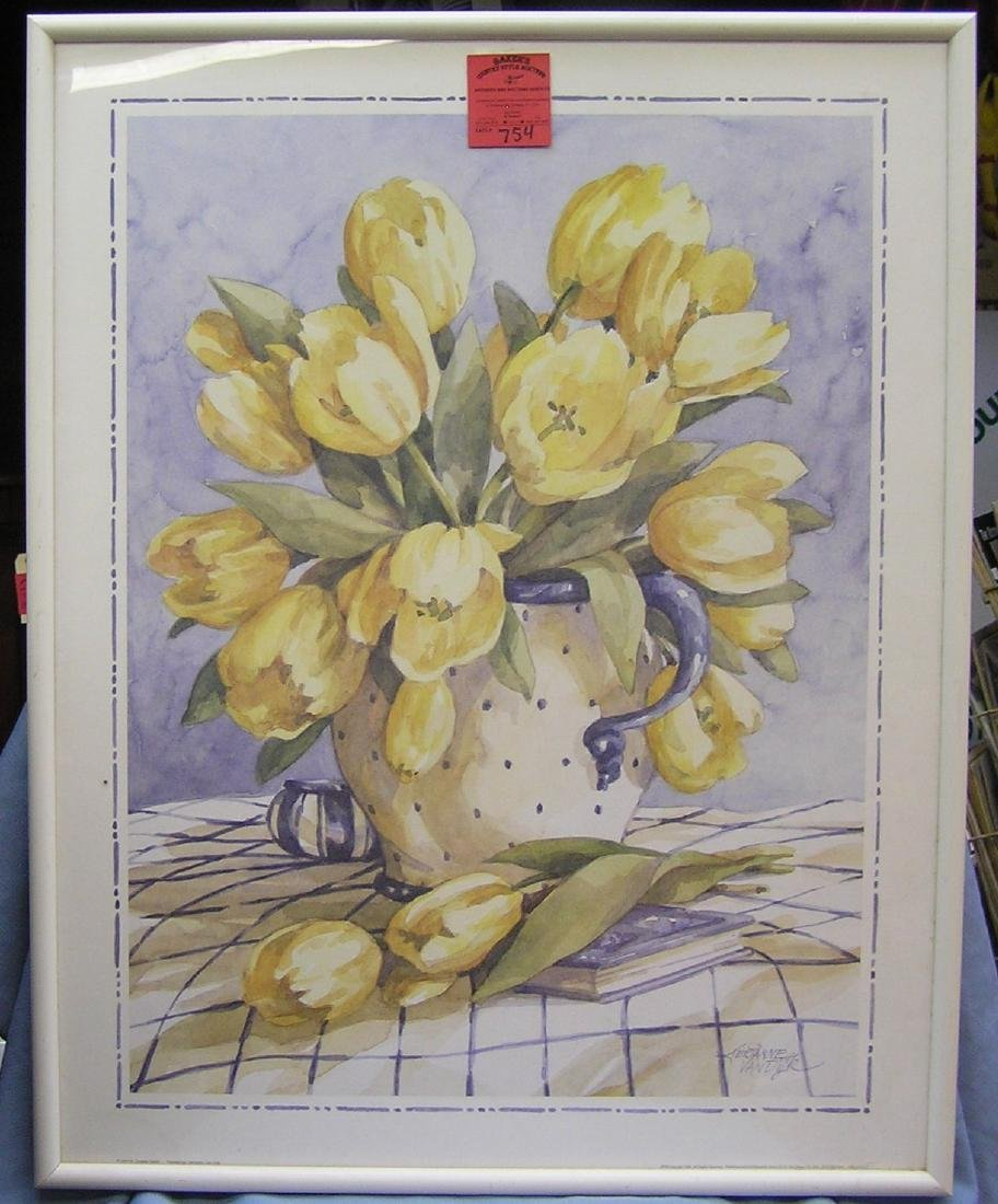 Vintage floral framed print