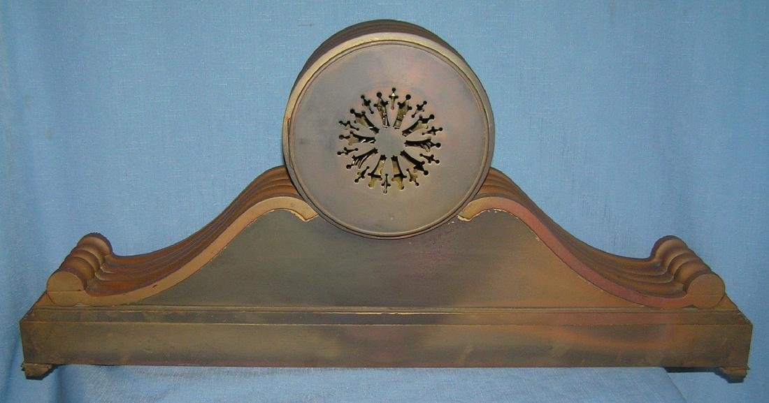 Great early Tiffany and Co. bronze mantle clock - 8