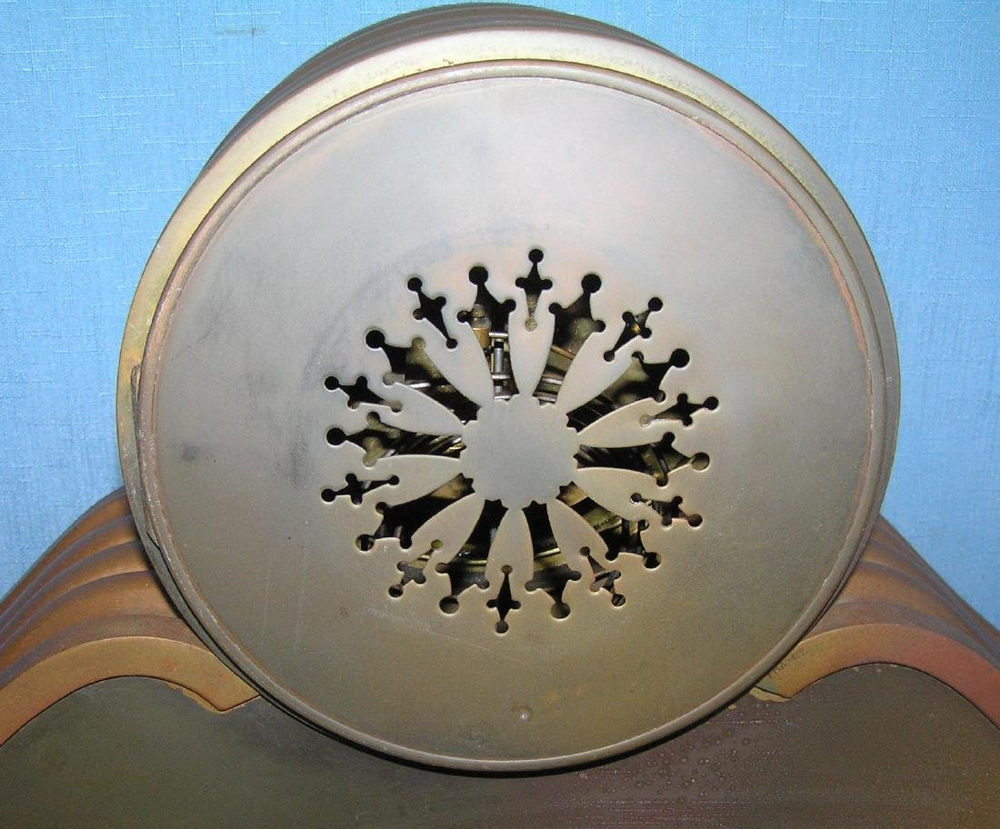 Great early Tiffany and Co. bronze mantle clock - 9