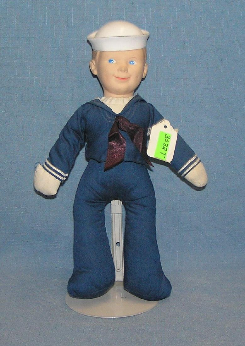 Early rubber and cloth dressed American sailor doll