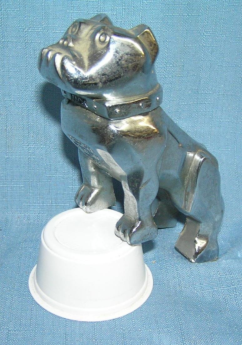 Bull dog Mack truck figural hood ornament