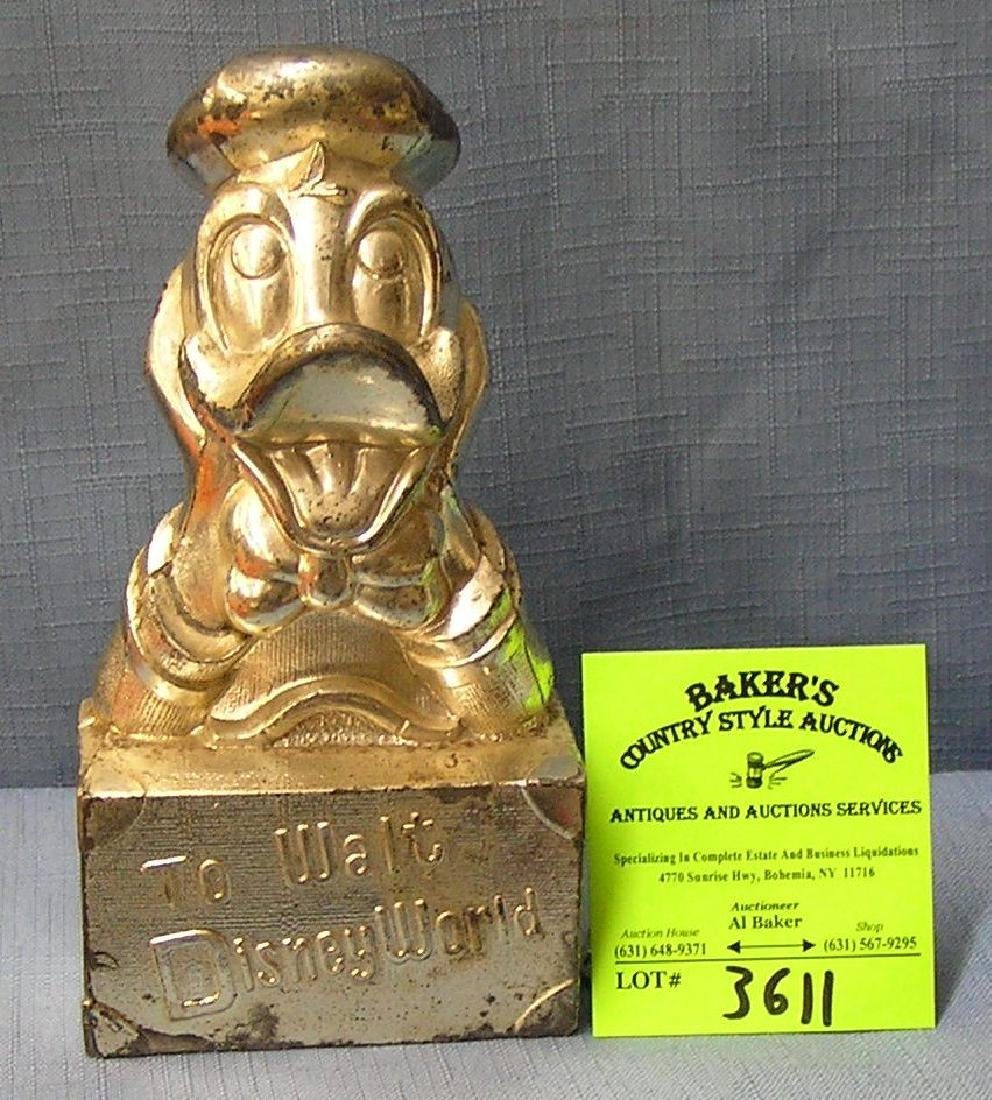 Vintage cast metal Donald Duck bank
