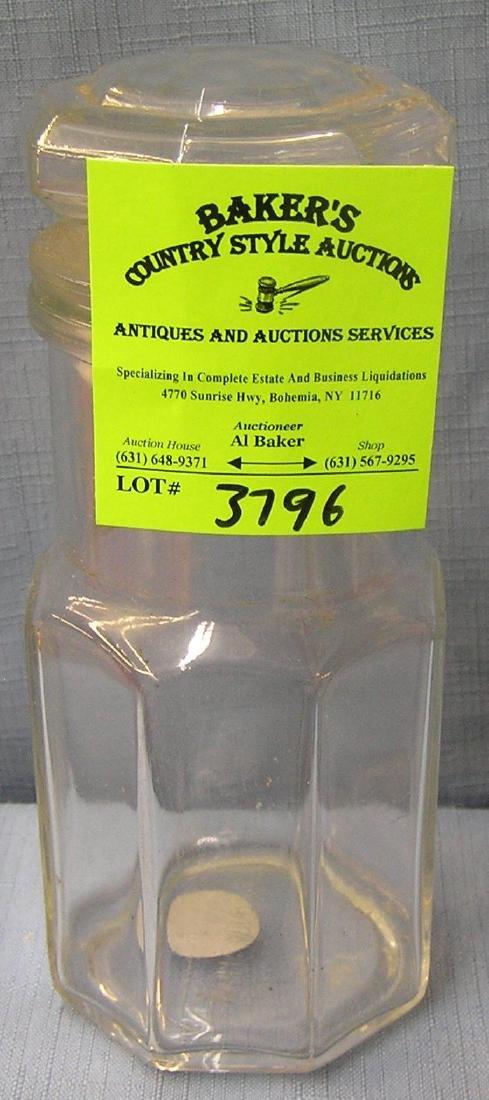 Vintage storage jar with lid