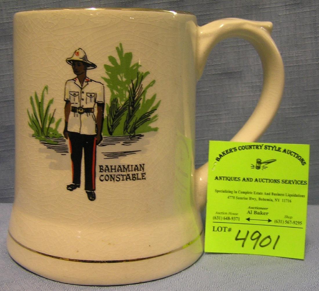 Vintage Bahamian constable beer mug