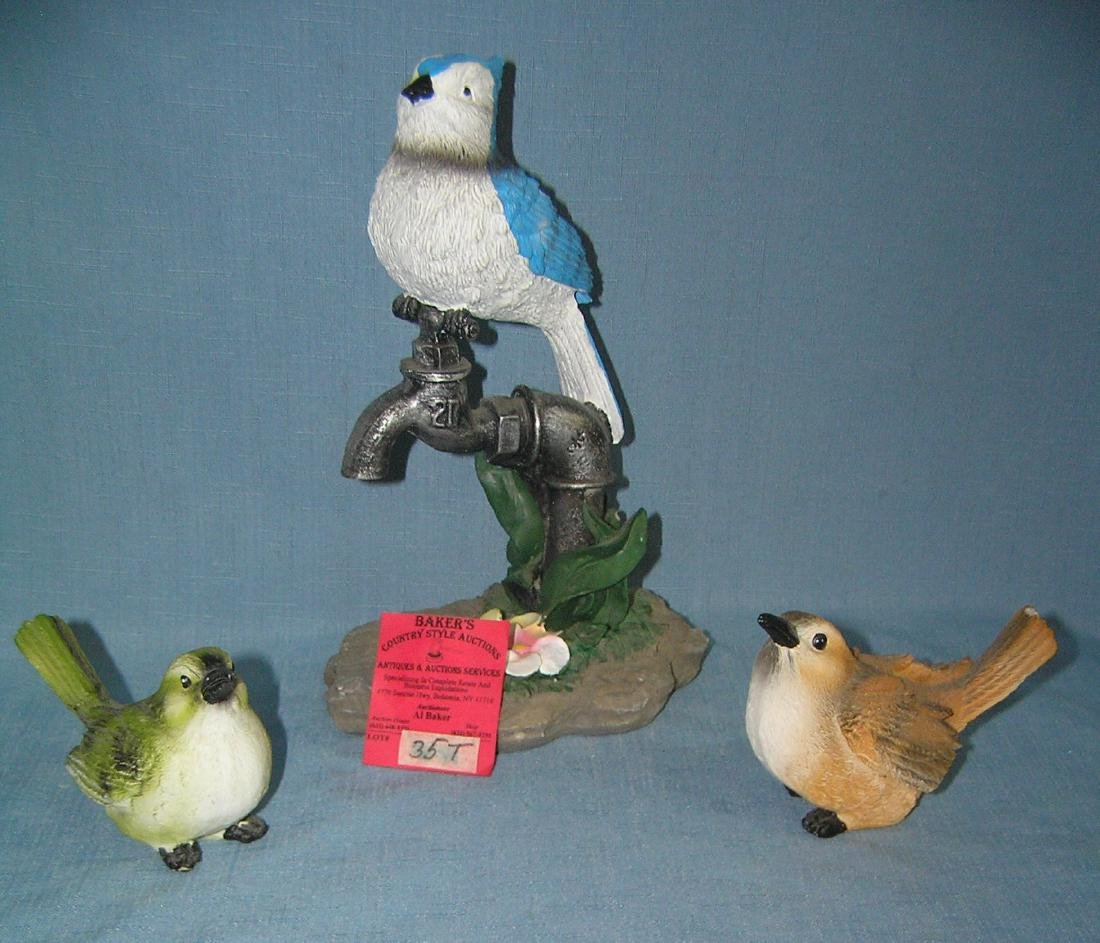 Group of decorative bird figurines
