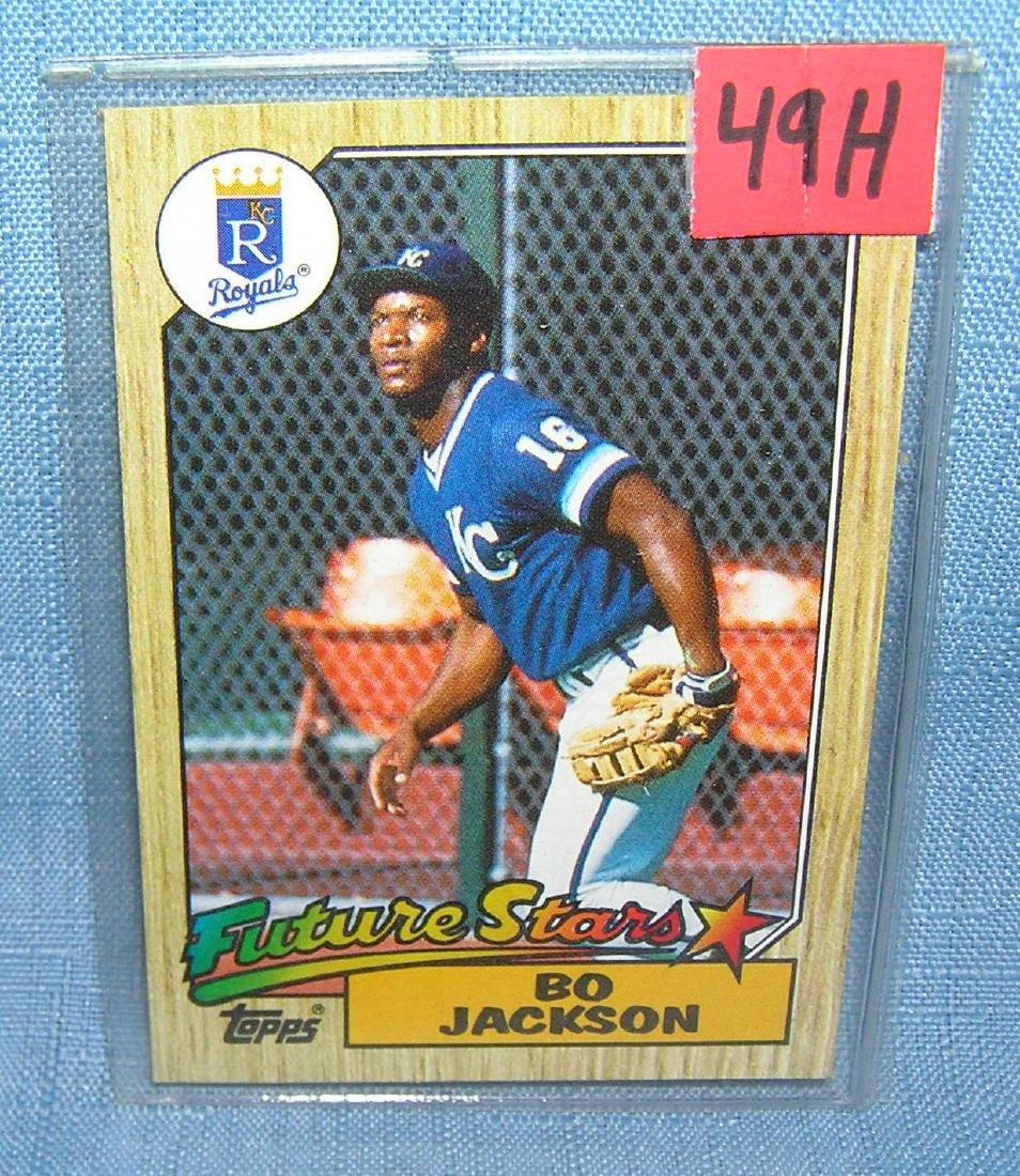 Bo Jackson rookie baseball card