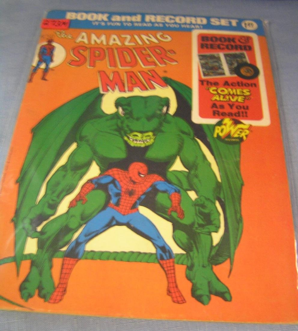 The Amazing Spiderman record and comic book