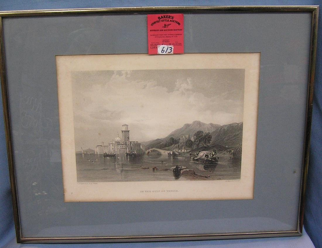 Antique print titled in the Gulf of Venice