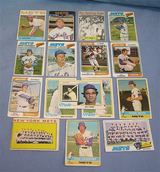 Group Of Early Ny Mets Baseball Cards Sep 04 2018