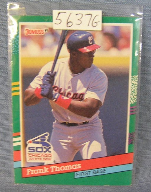 Frank Thomas Rookie Baseball Card Sep 04 2018 Bakers Antiques