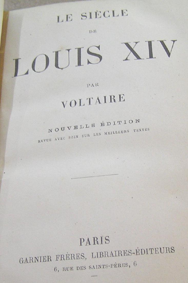 Antique book Century of Louie the 14th by Voltaire