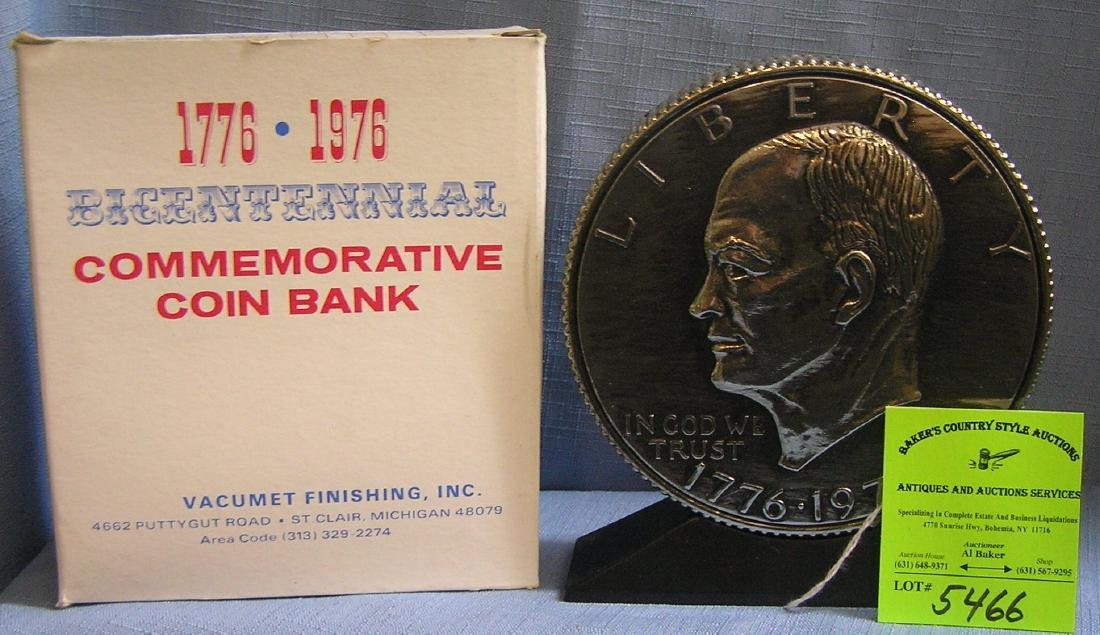 Vintage Eisenhower coin bank mint with original box