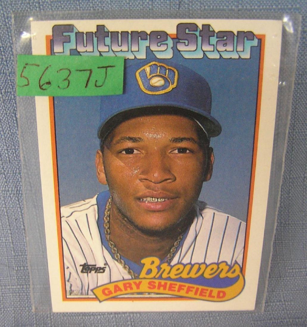Gary Sheffield rookie baseball card