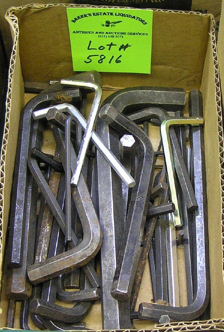 Box full of Allen and hex keys