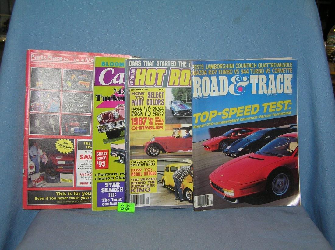 Group of automotive magazines