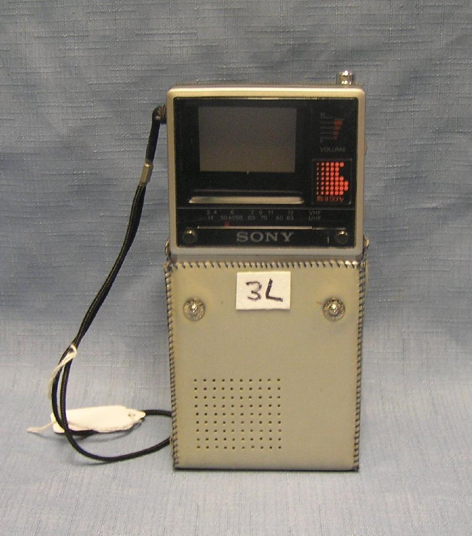 Vintage Sony Watchman portable TV set