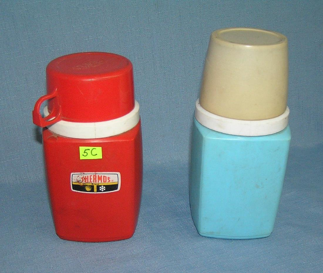 Pair of vintage Thermos bottles