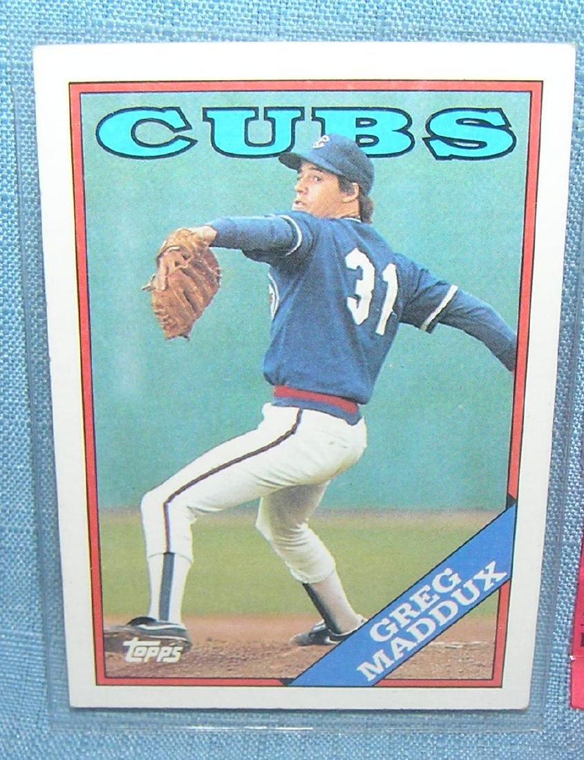 Vintage Greg Maddux all star rookie baseball card