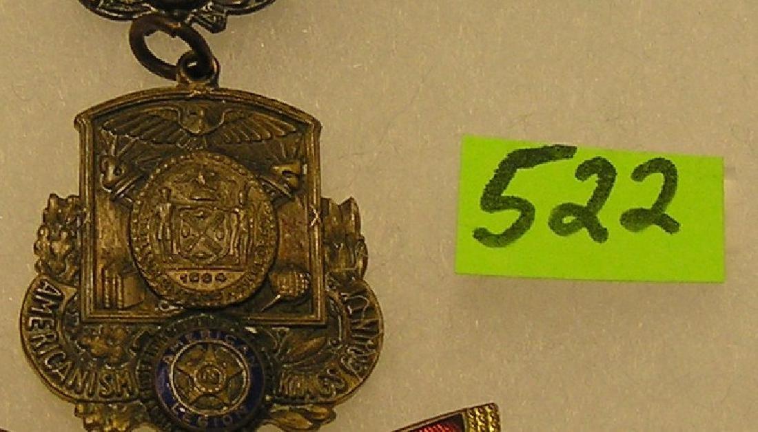 """Antique American Legion """"Americanism"""" badge"""