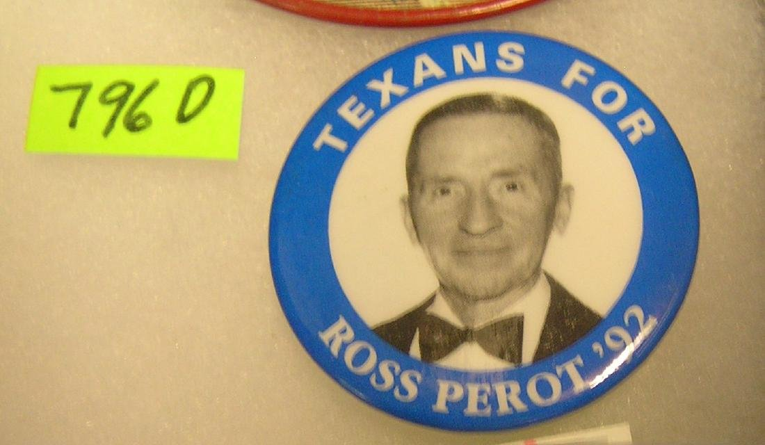 Texans for Ross Perot  in '92 campaign button