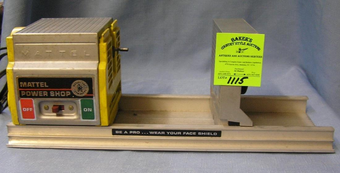 Vintage Mattel power shop lathe toy