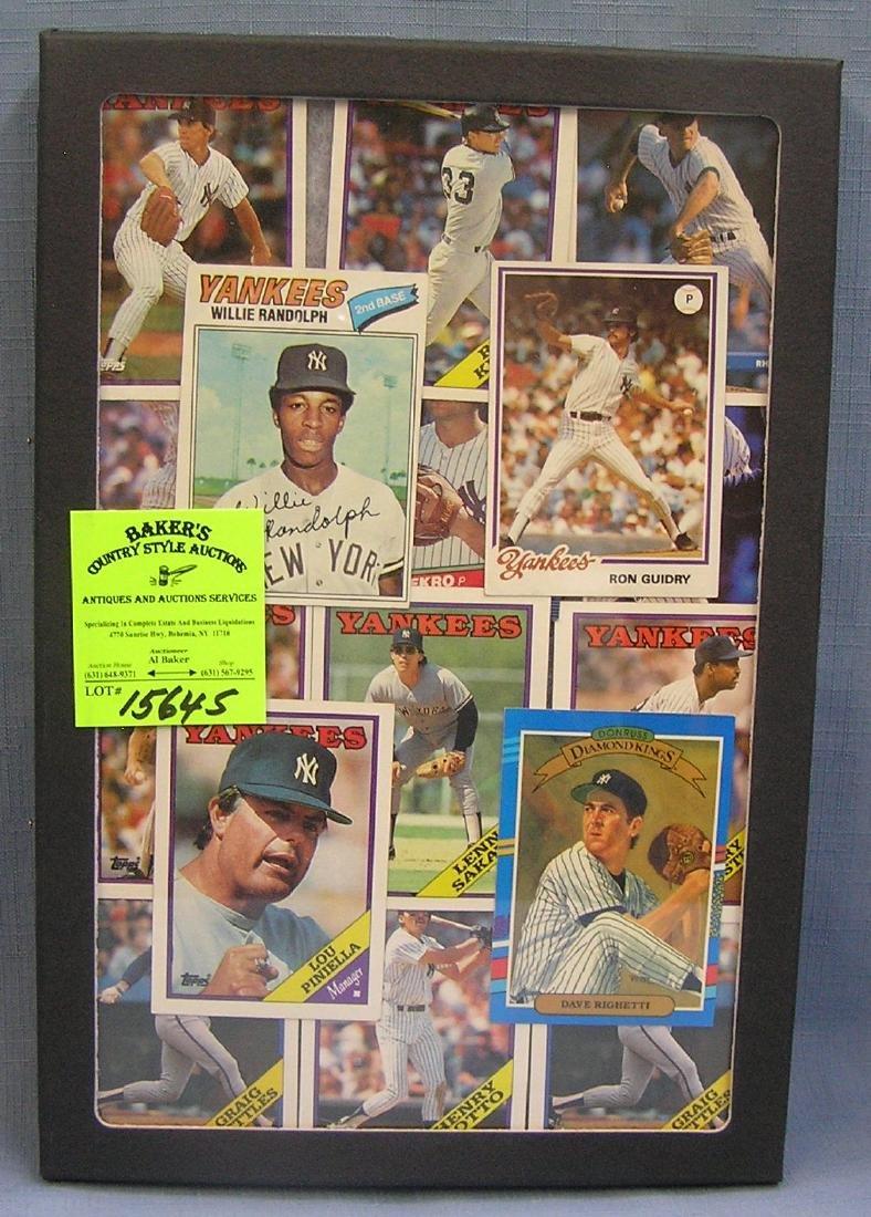 Group of NY Yankees all star Baseball cards