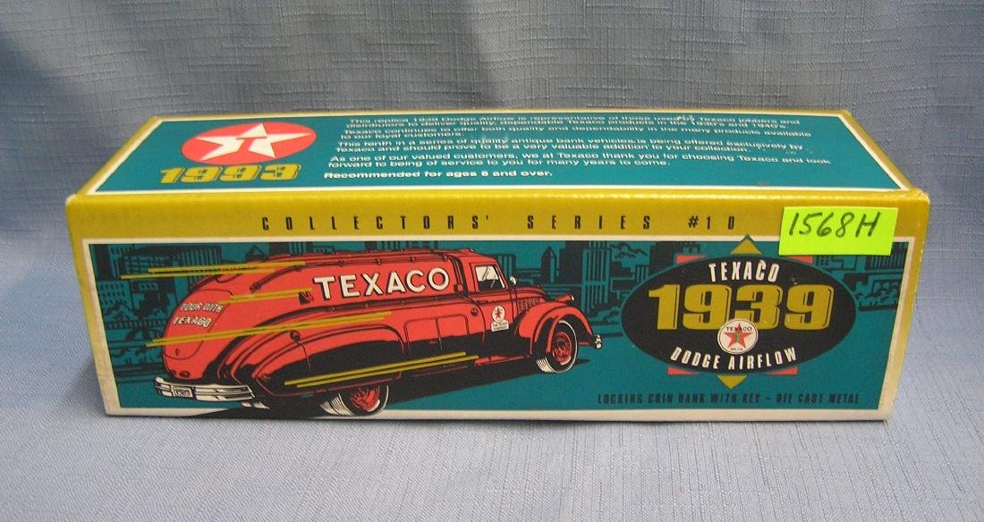 Vintage 1939 style Texaco Dodge Airflow bank