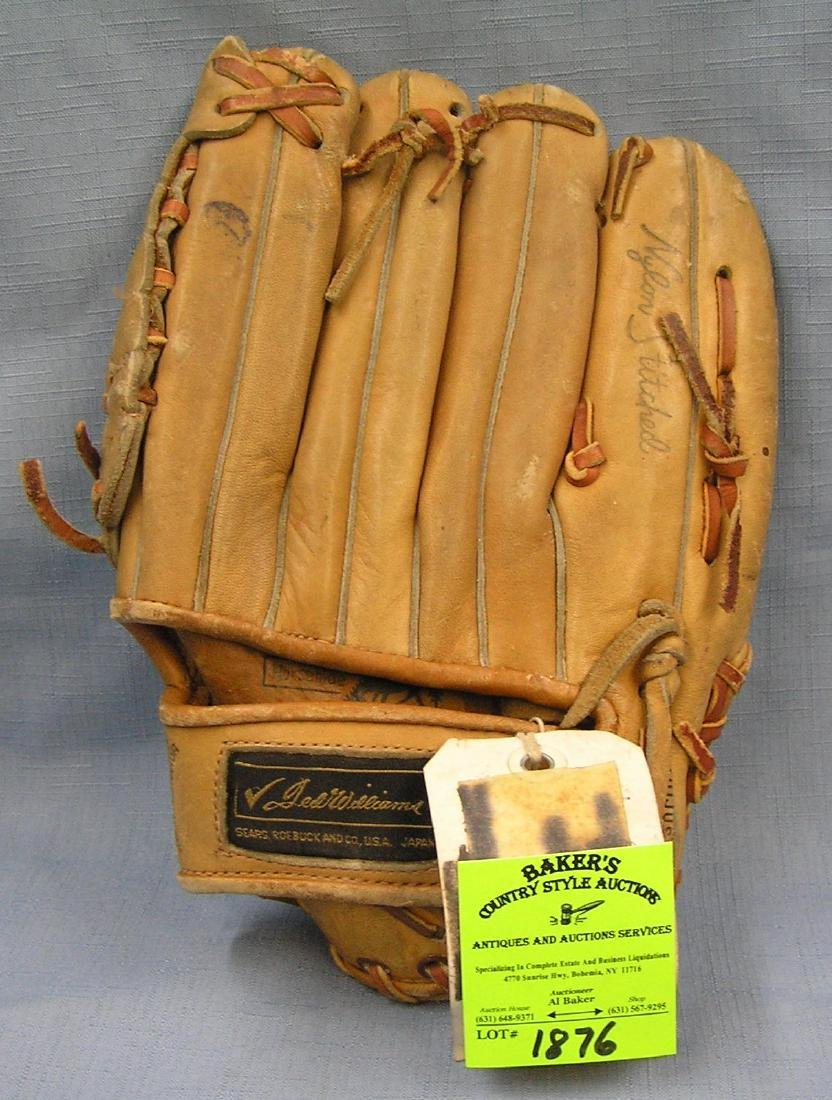 Early Ted Williams leather baseball glove