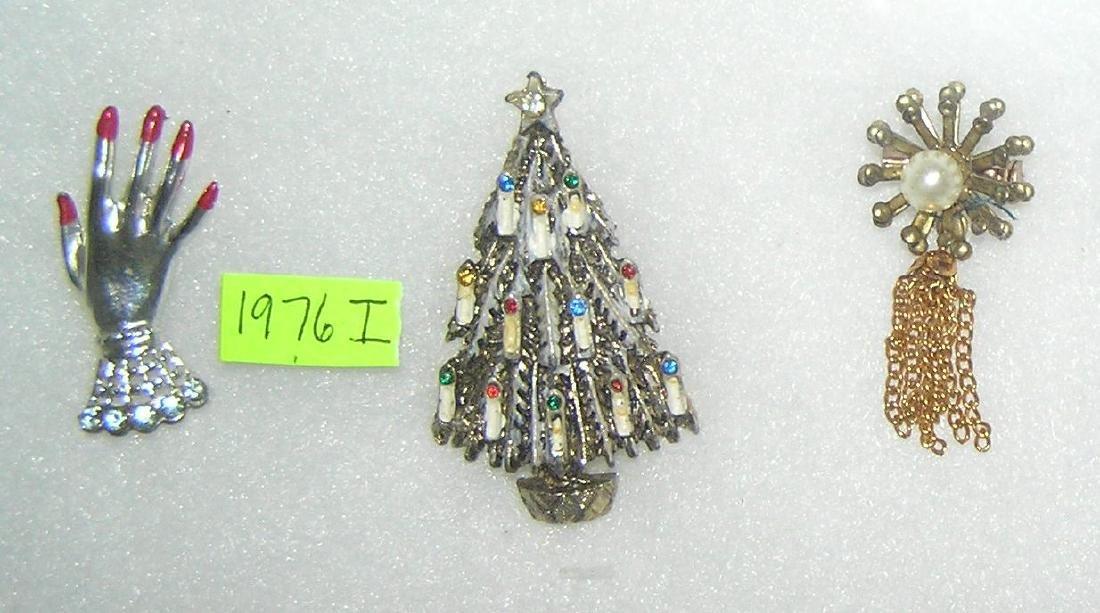 Group of 3 vintage pins