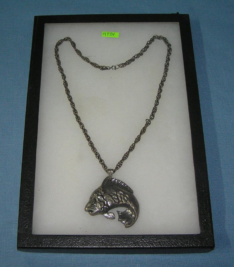 Vintage fish themed necklace