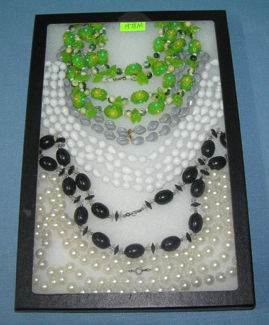 Collection of costume jewelry necklaces