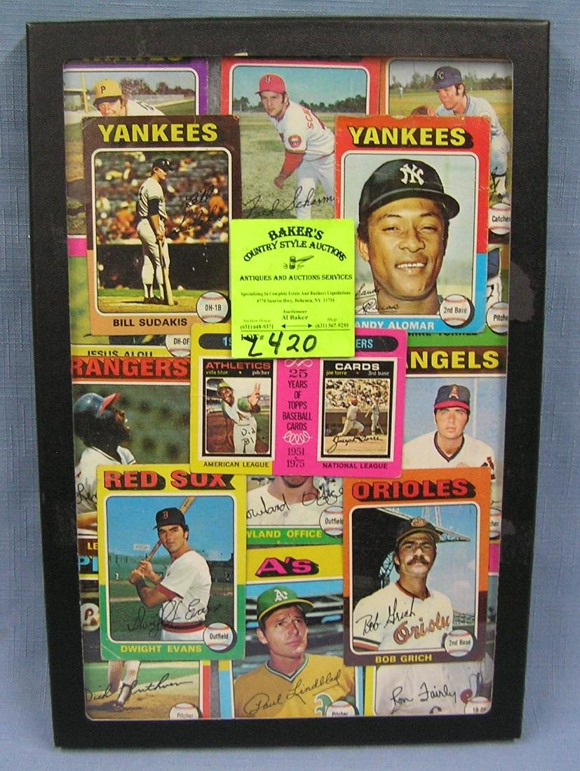Collection of vintage1975 Topps baseball cards