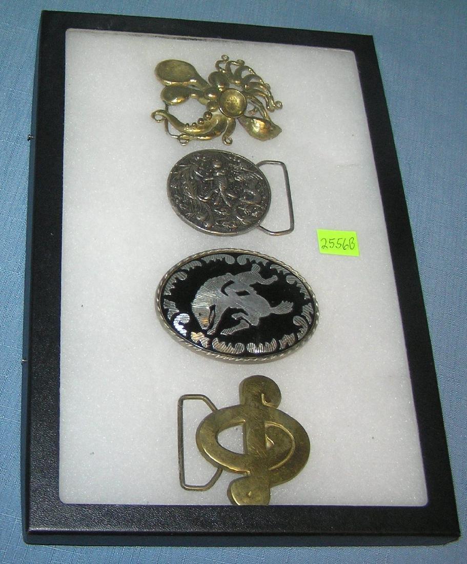Collection of vintage belt buckles
