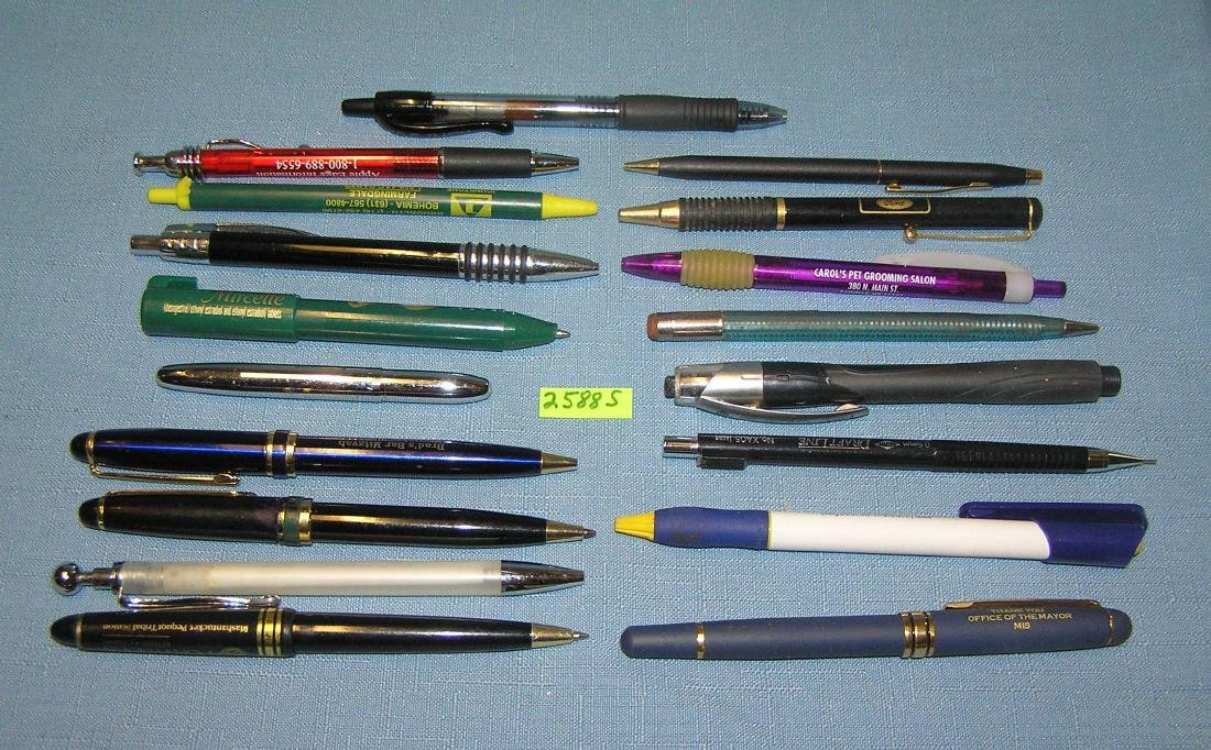Vintage and modern quality advertising pens