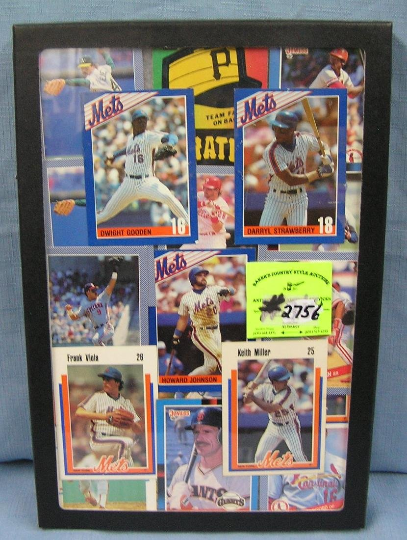 Collection of vintage NY Mets baseball cards and more