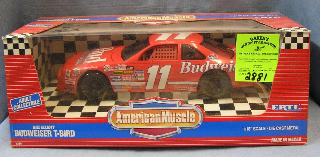All cast metal Bill Eliot Budweiser T-Bird race car