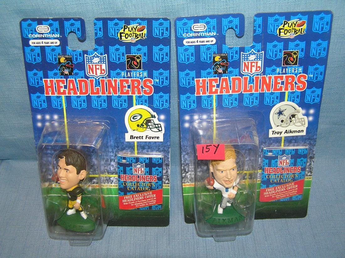 Pair of vintage Football sports figures