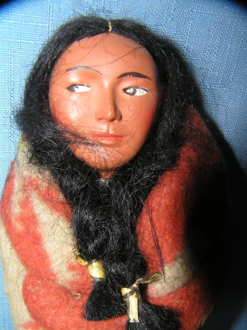 Native American Indian hand made Skookum doll - 2