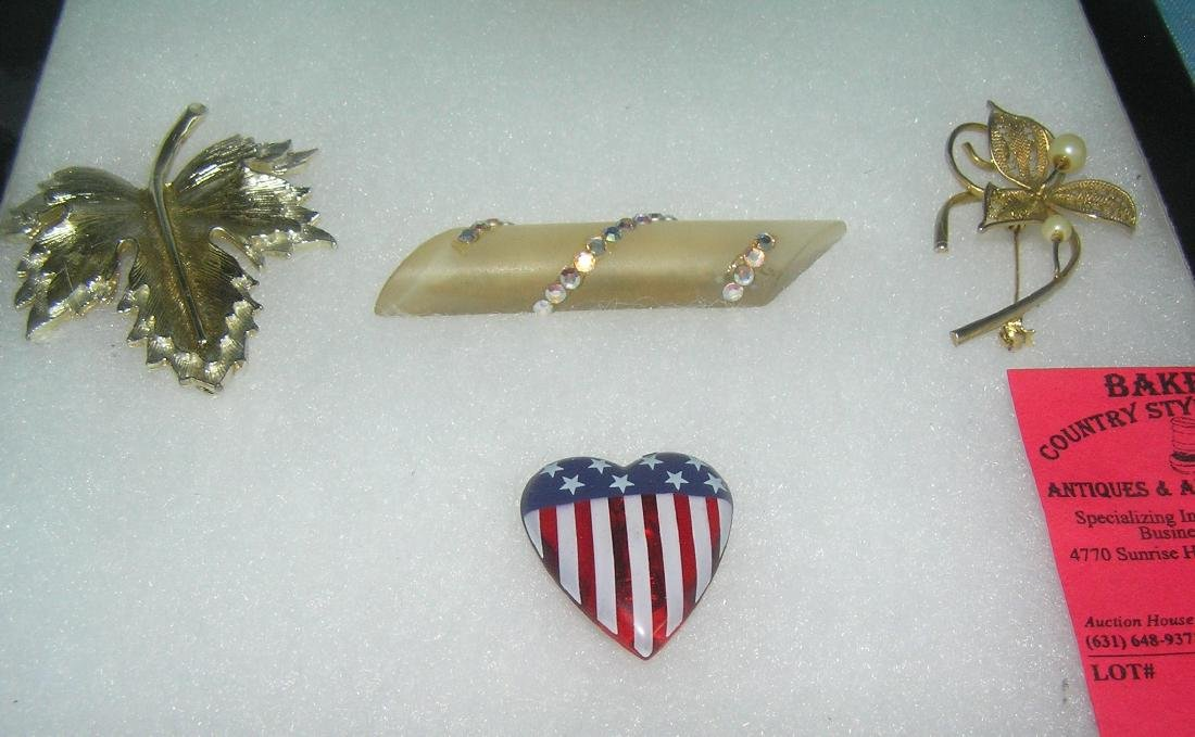 Group of quality costume jewelry pins