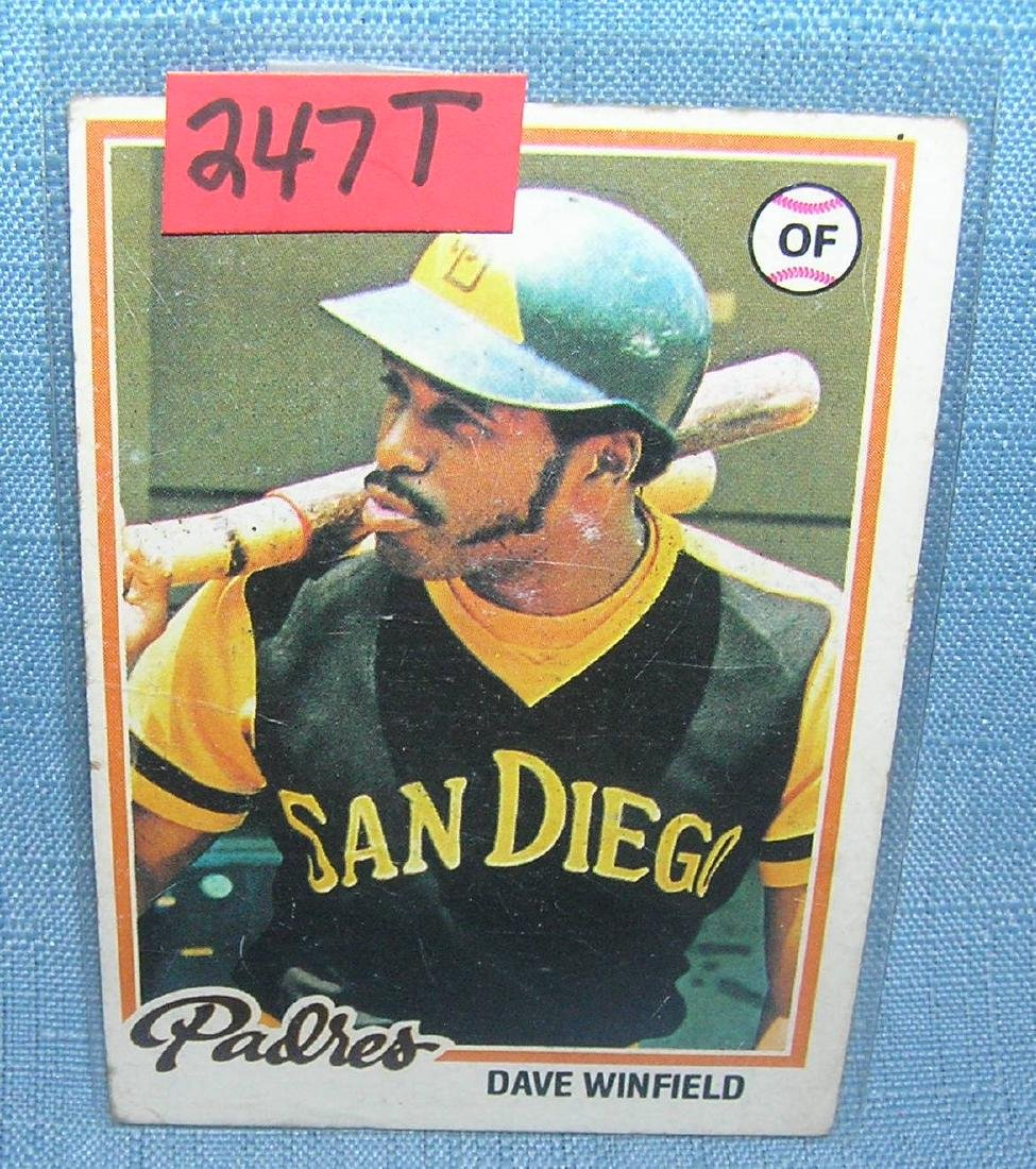 Dave Winfield Baseball card