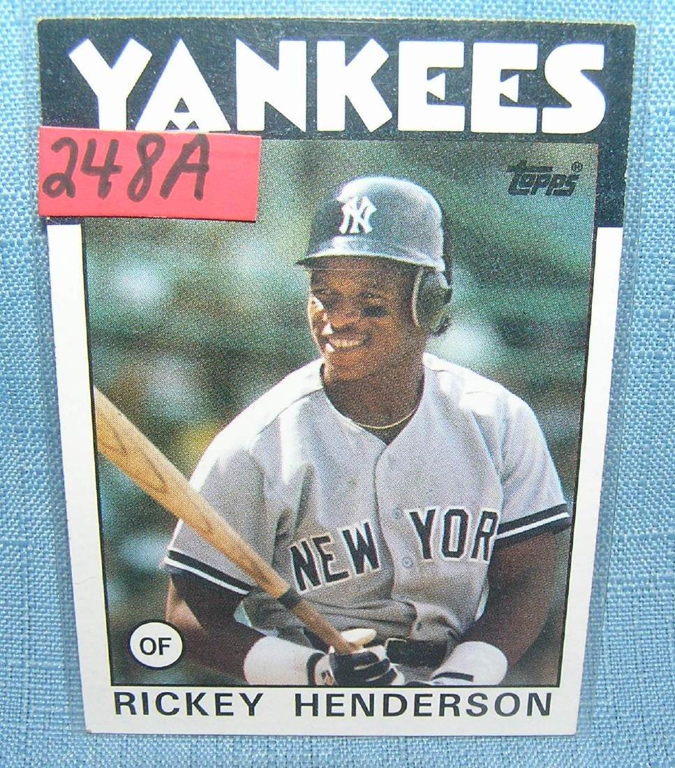 Rickey Henderson Baseball card