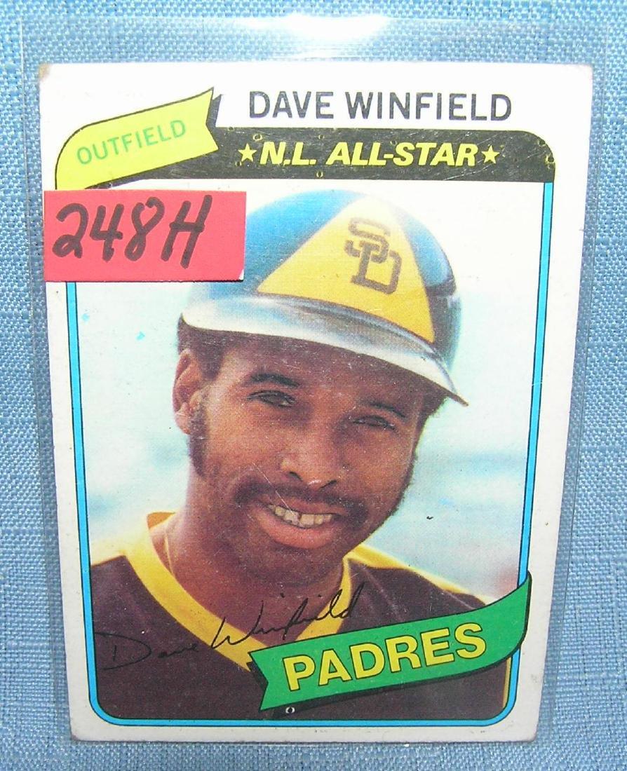 Dave Winfield Baseball card