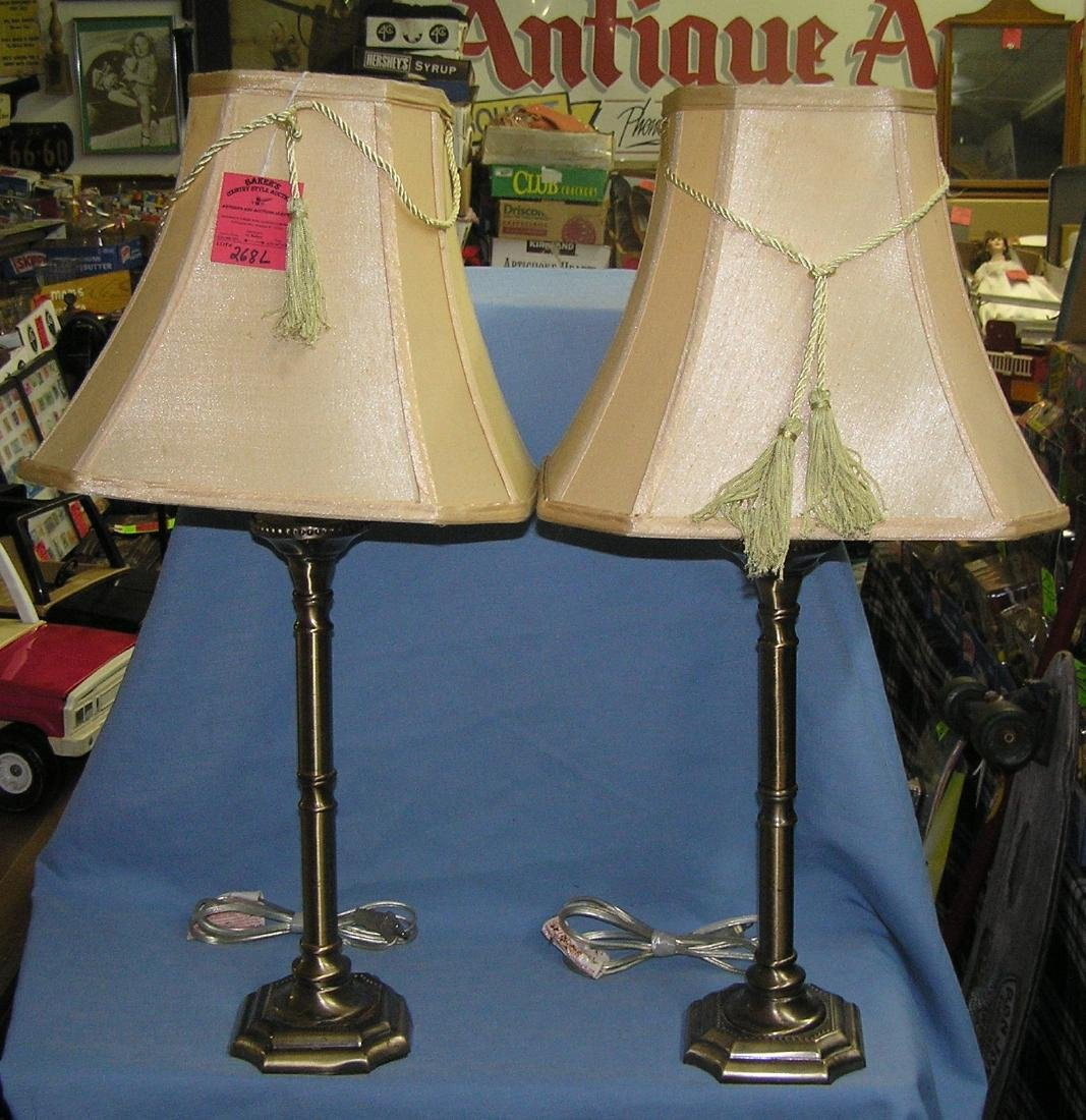Pair of modern brass table lamps