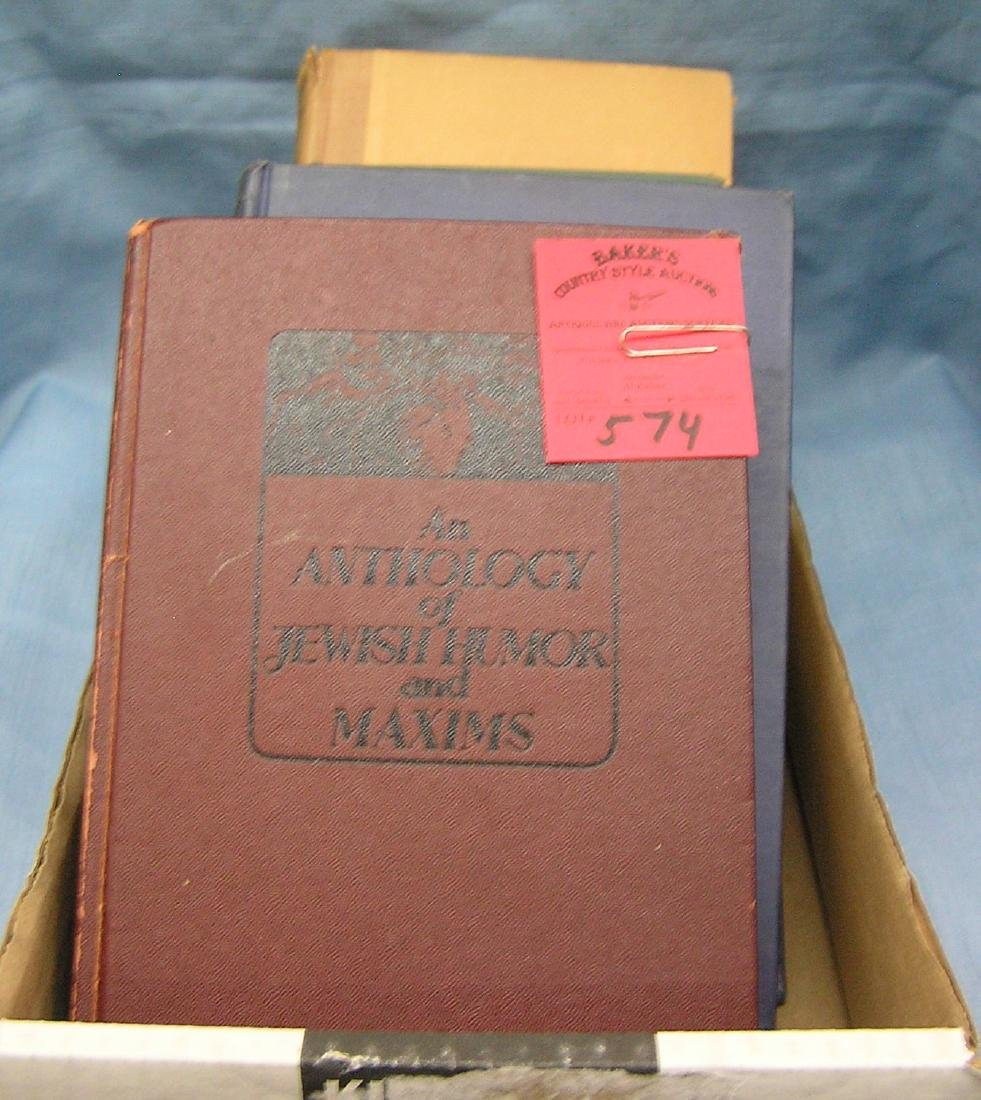 Box of antique books