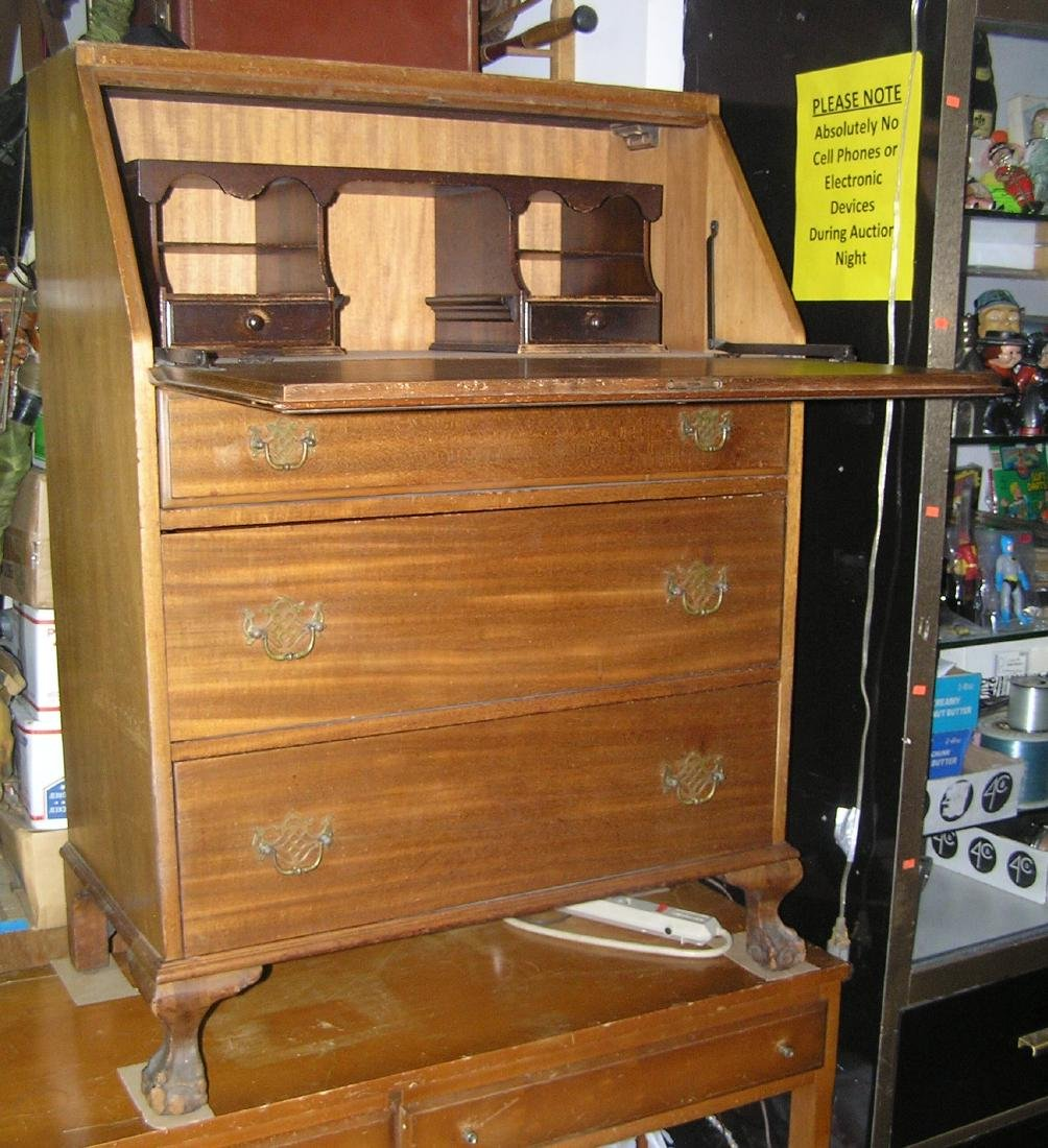 Antique Governor Winthrop drop front desk - 5