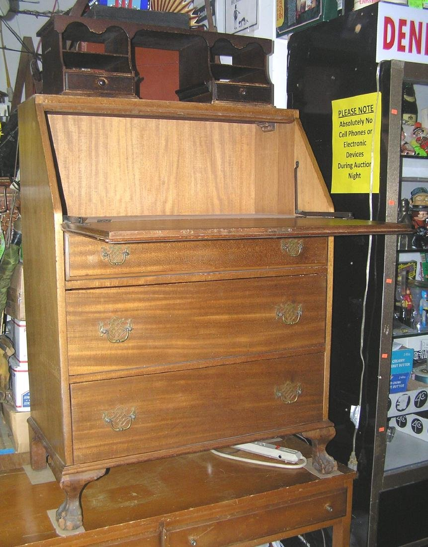 Antique Governor Winthrop drop front desk - 6
