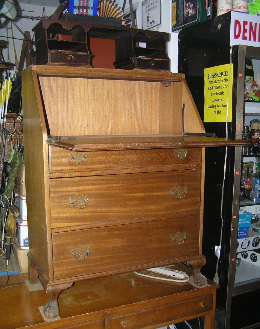 Antique Governor Winthrop drop front desk - 8