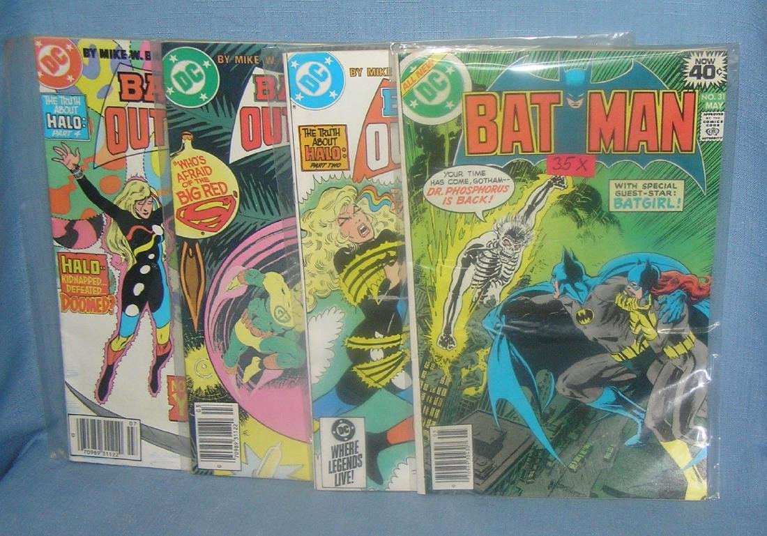 Group of vintage Batman comic books