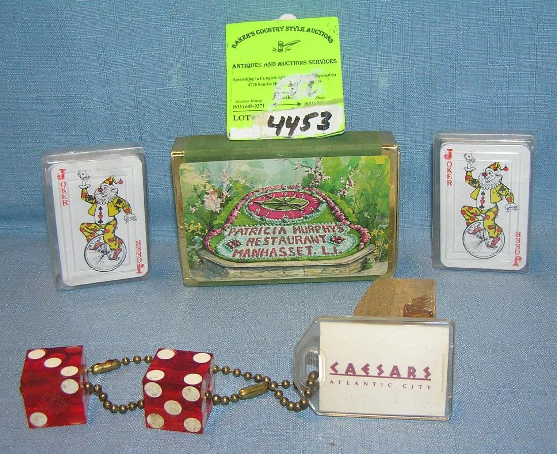 Group of cards and dice